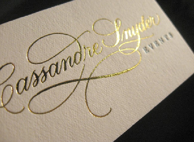 Special Foil Business Cards