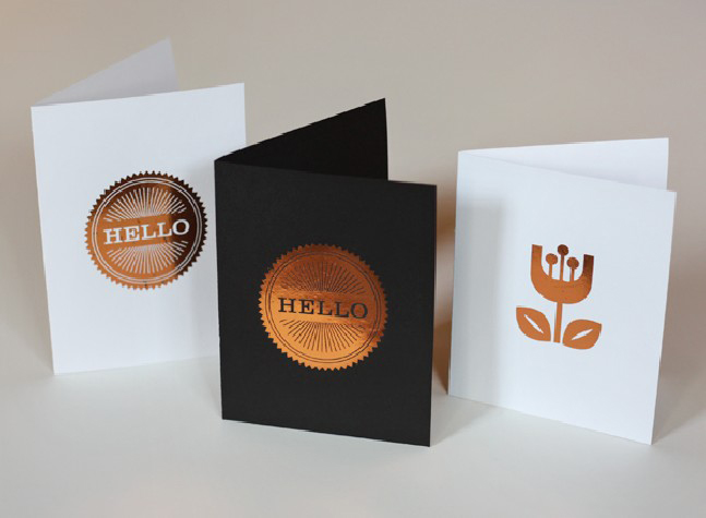GREETING CARDS WITH FOIL